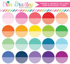 Ombre Circles Clipart – Erin Bradley/Ink Obsession Designs