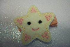 Boutique  Embroidered Felt Starfish Hair Clip by pachwilliamson, $3.00