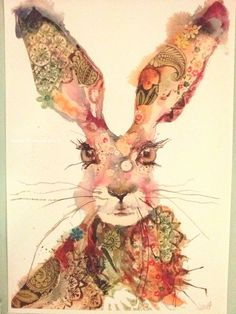 "images of art by sarah weyman | Green Hare "" a4 & A3 Giclee print more info on my facebook page ..."