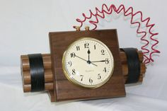 Items similar to Novelty Time Bomb Clock on Etsy Large Wood Clock, Wood Clocks, Diy Clock, Clock Ideas, Wall Watch, Design Tisch, Quirky Decor, Wooden Art, Luxury Decor