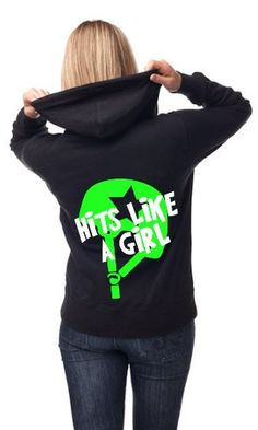 Adult Unisex Hits Like a Girl Roller Derby Hoodie « Clothing Impulse