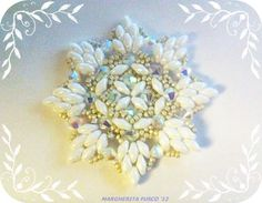 Beaded 8 sided snowflake tutorial on you tube not in English but easy to follow experienced beaders