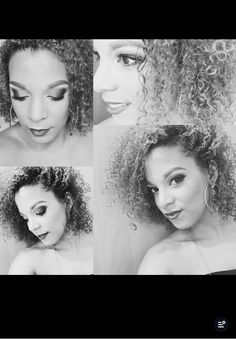 Things I do Different looks Black and white Curly hair don't care In Love with Make Up Love to a girl Underlinebeauty on fb