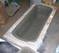 Once all of the hypertufa material is packed into the mold the trough is allowed to initially cure for 48 hours.