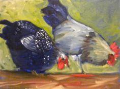 cute chicken art