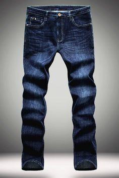 $20.95 Elasticity Slimming Zipper Fly Straight Leg Jeans