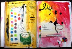 There is no such thing as too much color in my book. I want to get out my paints and make this happen in my own journal.