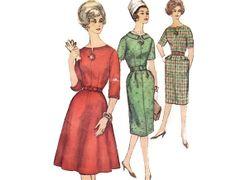 Vintage 60s Sewing Pattern  Flared or Slim Skirt by FriskyScissors, $8.00