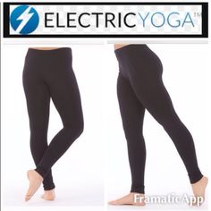 NEW Electric Yoga black seamless leggings NEWElectric Yoga black soft seamless legging! This legging is a staple for your wardrobe! Perfect to wear to your workout classes or for any day!  The materials of these leggings is: 92% polyester/ 8% spandex. Made in China. I also am selling this legging in XS/S! Electric Yoga Pants Leggings