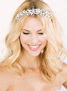 30 Trendy Wedding Veils With Tiara Hair Down Bridal Headpieces Romantic Wedding Hair, Wedding Hair And Makeup, Wedding Veils, Trendy Wedding, Hair Wedding, Sparkle Wedding, Prom Hair, Wedding Blog, Wedding Styles