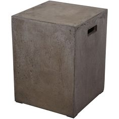 Anthropology Square Concrete Stool #concretefurniture