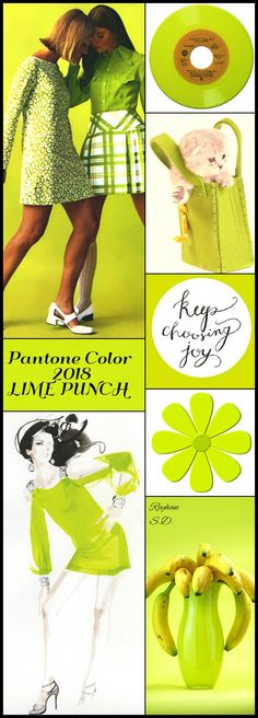 '' Pantone Color 2018- Lime Punch '' by Reyhan S.D.