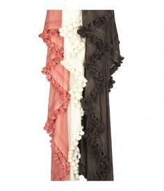 Scarfs.  Lovely scarfs.