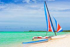 Catamaran at a resort in Cayo Coco