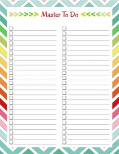diy home sweet home: Home Management Binder - To Do Lists