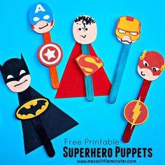 free+printable+superhero+puppets.jpg (650×650)