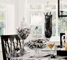 Black and White Candy | 24 Beautiful And Stylish Ways To Decorate For Halloween