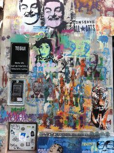 Amazing jpeg gen graffitti @ Tegui restaurant. Buenos Aires, Argentina