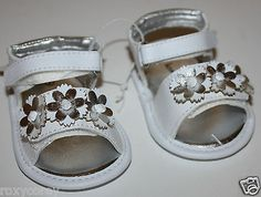 Baby Girls Shoes: Koala Baby Infant Girls White Sandals With Flower Shoes Size 1 Nwt -> BUY IT NOW ONLY: $8.49 on eBay!