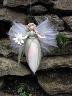 ADELE Needle Felted Wool fairy Flower fairy Waldorf by LivelySheep, €14.00