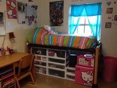 college dorm storage ideas | Via Milligan College