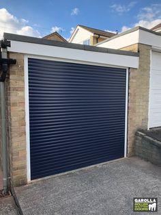 Single Garage Door In Blue Garage Doors Garage Door Cost Best Garage Doors