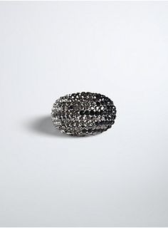 We like you, so we're putting this ring on it! Grey and black pavé stones make the oversize silver tone band one sparkly stunner. The kind of ring that will dazzle anyone. Plus Size Rings, Stackable Rings, Druzy Ring, Chic Outfits, Torrid, Bauble, Metals, Silver, Stones
