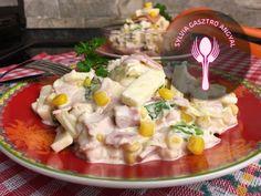 Majonézes duplán húsos saláta     Sylvia Gasztro Angyal