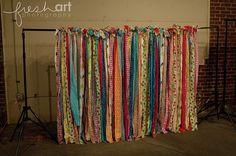Fabric backdrops! SO fun!