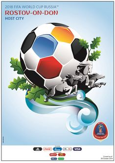 FIFA World Cup 2018 Russia Official Host City Poster (Kaliningrad) - Sports Endeavors – Sports Poster Warehouse World Cup Russia 2018, World Cup 2014, Fifa World Cup, Soccer World, World Football, Wm Logo, Rostow Am Don, City Poster, Poster