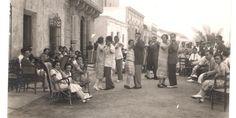 """De bailes en el paseo marítimo del Puerto de Mazarrón, 1923¿La música de los años 20 que se bailaba en el paseo del Puerto de Mazarrón, cerca del Bar """"La Peña?"""