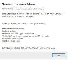 PC Virus Cleaner: Get Rid of B.karmaplug.club Pop-up Scam