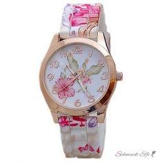 Armbanduhr Hibiskus Blüten Rosegold