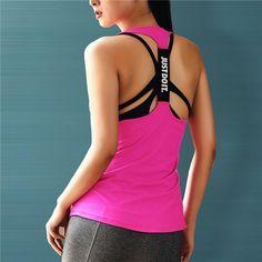 FuzWeb:Professional Yoga Top Vest Sleeveless Sport Shirt Women Running Gym Shirt Women Sport Jerseys Fitness Yoga Shirt Tank Top,Red / S