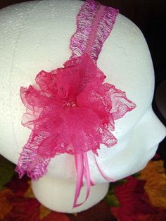Womens OOAK Hot Pink Floral Stretch by jennymillerartistry on Etsy, $9.99