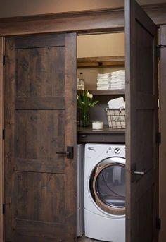 Hide the washer/dryer