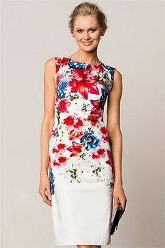 Dresses   Buy Women's Dresses Online - Grace Hill Placement Floral Shift