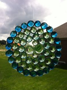 vase marbles and Elmers glue