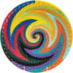 African Basket - Zulu Wire - Shallow Plate #39546