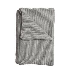 Knitted Throw - Grey Taupe from Sophie Allport Beige Throws, Moss Stitch, Knitted Throws, Outdoor Cushions, Cosy, Taupe, Colours, Knitting, Cotton