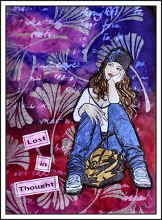 Creativity: Lost in.. using Designs by Ryn stamps; Mar 2015