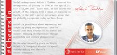 Ashish Thakkar accomplished what only a few attain in their lifetime.  He is not only a successful entrepreneur who built his empire from scratch, but also an astronaut-in-waiting.  He was honoured as 2012 Young Global Leader by World Economic Forum. #CheersTo the rock star!!