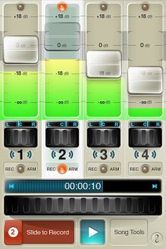 FourTrack is a recording app for your iPhone,iPod touch,and iPad.It's like a superpowerful studio.