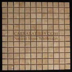 CM-1x1-POL #cremamarfil #cremamarble #marfilmarble #cremamosaic #mosaicmarble #mosaictile #crematile #marfiltile