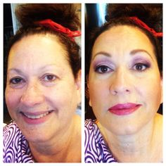 BTS Before and After with Vanessa's beautiful Mother-in-law. Make-up by Maya Goldenberg. Hair by Melissa Noelle. www.mayagoldenberg.com  #bridal #makeup #makeupartist #bridalbeautyspecialist #Toronto