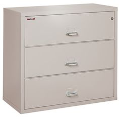 FireKing 3-Drawer Lateral File Cabinet Finish: Platinum, Lock: Key Lock