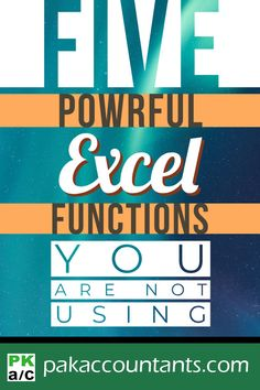 These are five of the most underrated formulas in Excel that are of great importance. Learn them to further your skills. Free tips, tricks, tutorials, dashboard templates, formula core book and cheat sheets. Computer Lessons, Computer Help, Computer Technology, Computer Programming, Computer Projects, Technology Lessons, Medical Technology, Energy Technology, Technology Gadgets