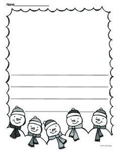 FREEBIE!!! From Winter Print and Go! Math and Literacy. Super fun writing paper for winter. Follow me on Pinterest and TpT for more fun free stuff.