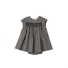 Maruska dress Black and white gingham - Bon Point