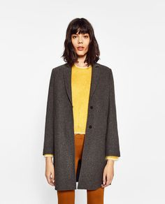 Image 2 of COAT WITH CONCEALED SEAM from Zara